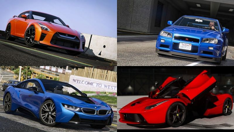 Some of the coolest looking car mods in GTA 5 (Images via GTA5-Mods)