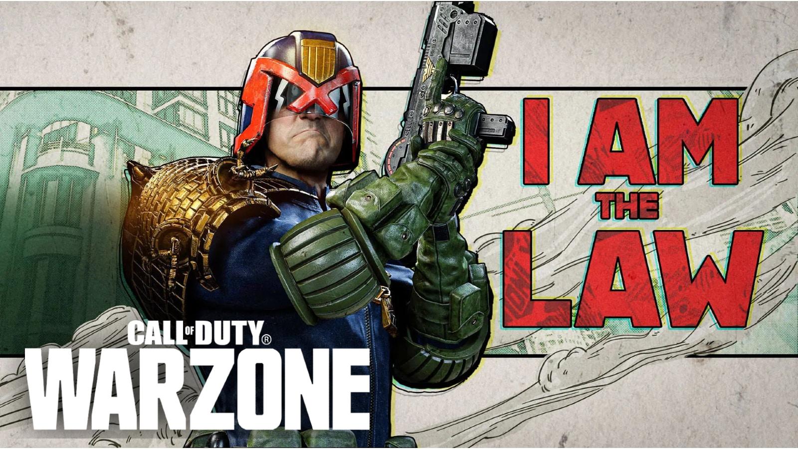 Warzone hacker shows off unreleased Judge Dredd skin during win