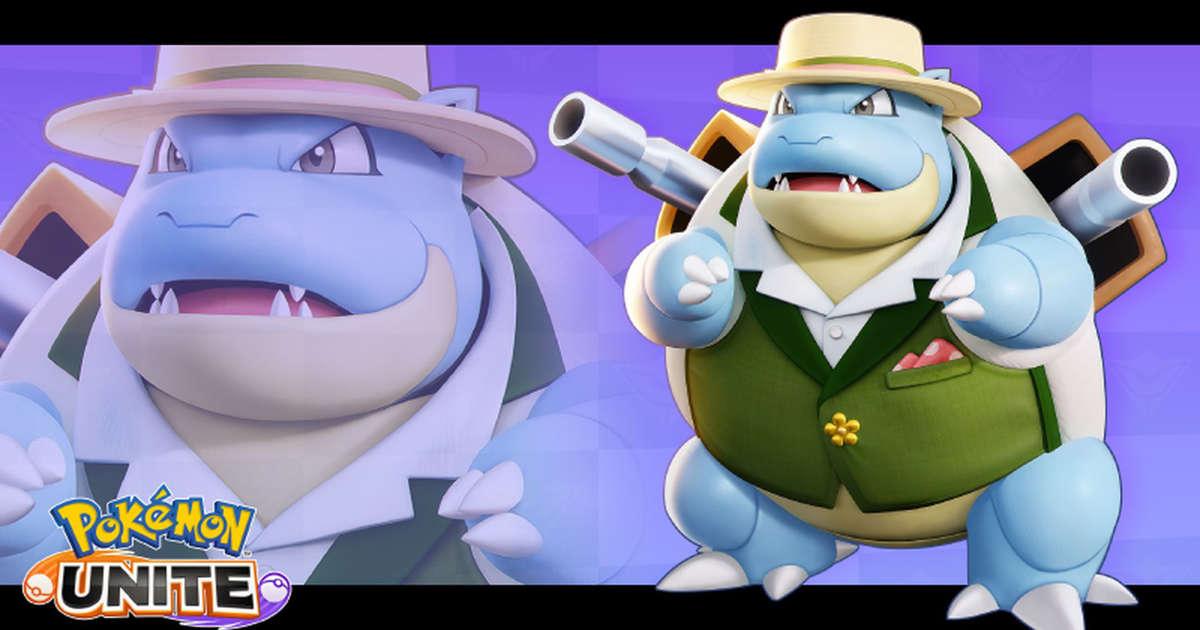 Blastoise ist ein schicker kleiner Junge in Pokémon Unite