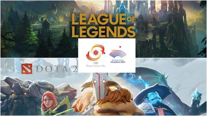 Esports to make its entry into the medal tally of Asian Games 2022 (Top: Image via League of Legends, Bottom: Image via Dota 2, Edited by Sportskeeda))
