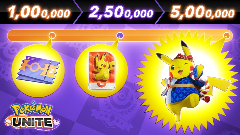 Pokemon Unite Festival Pikachu Holowear Zieltreffer